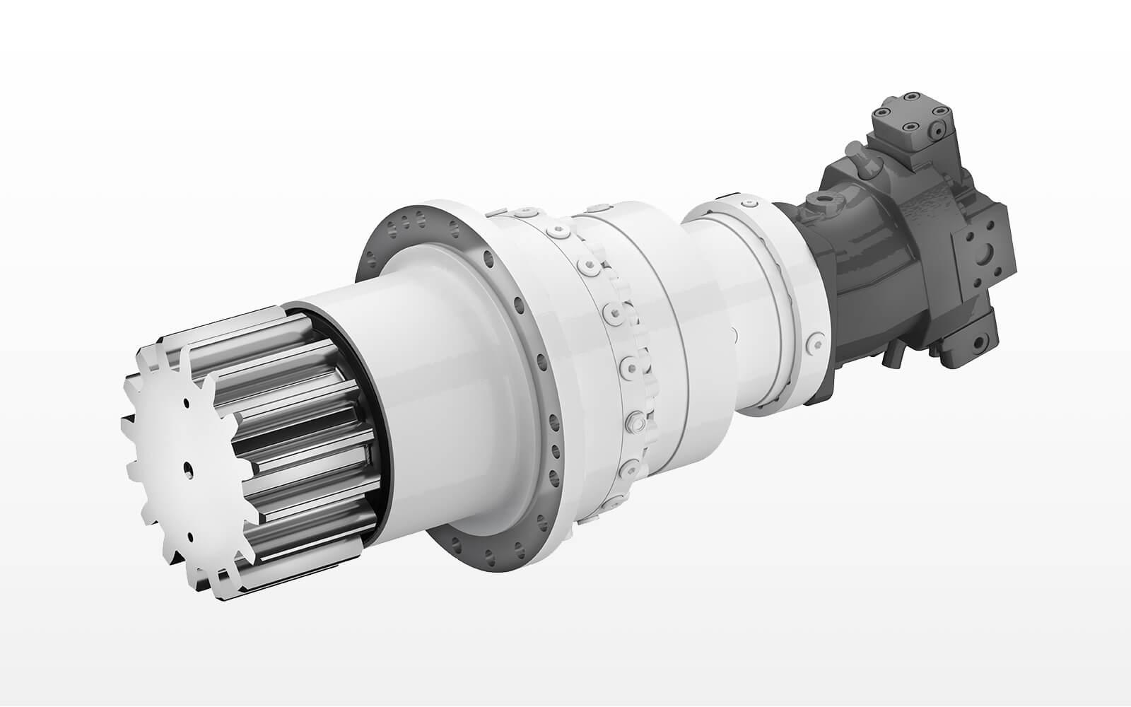 Hydraulic erector drive