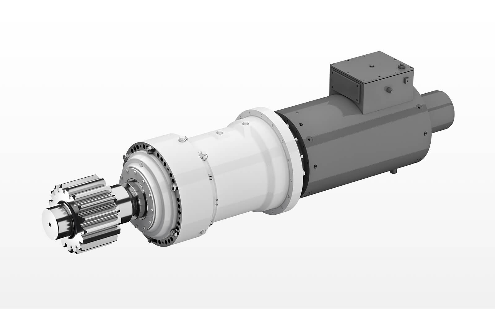 Main gearbox with asynchronous-motor in the power range of 200 till 400 kW