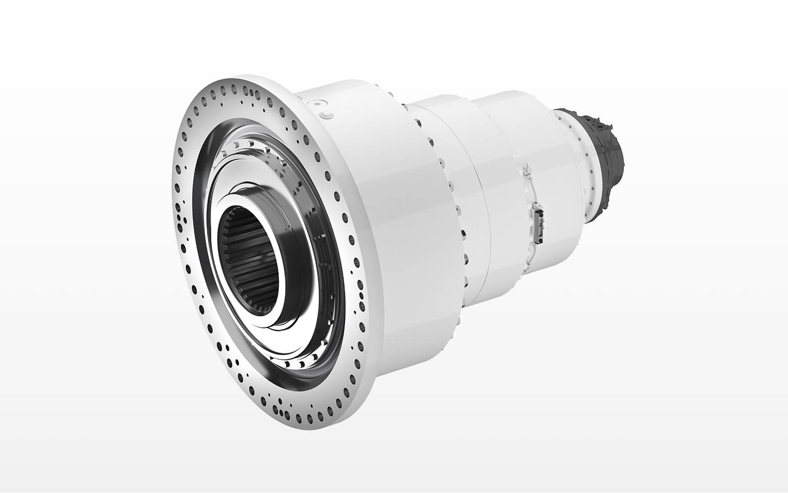 Central drive for microtunneling with output torque upt tp 2.200 kNm