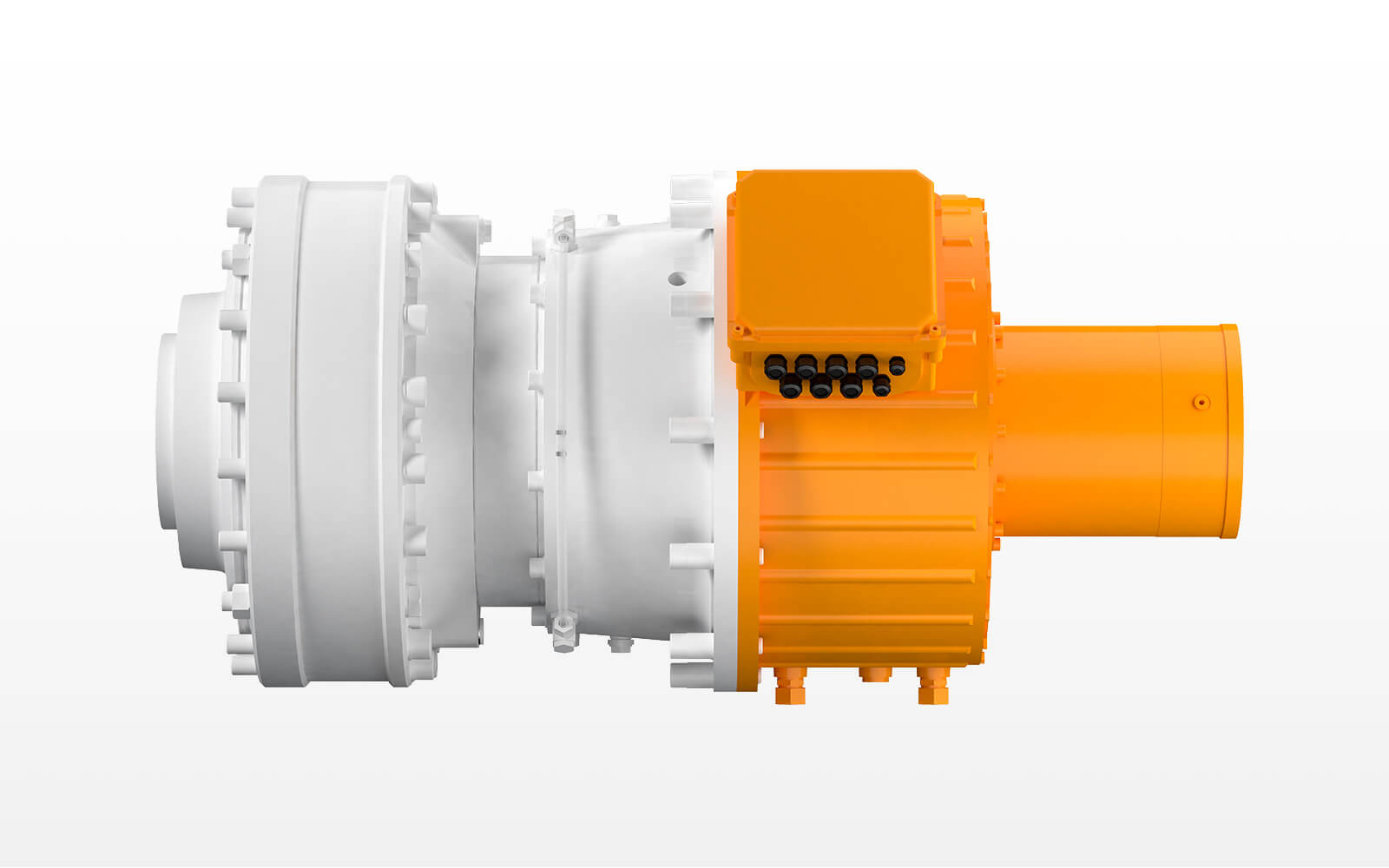 compact main-gearbox with Zollern-syncronous motor in a power range of 200 till 250 kW