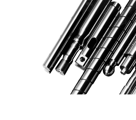 Precision Steel Shafts, flat guide rails, components