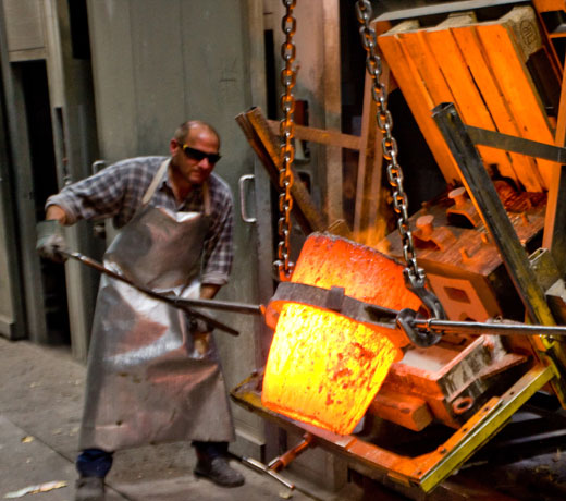 Sand casting and forging